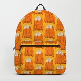 Orange Winter Jacket Backpack