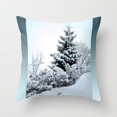 Natures Christmas Tree Throw Pillow
