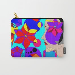 Pinwheels and Shapes Abstract Lady Carry-All Pouch