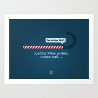 XMAS Wishes preloader Art Print