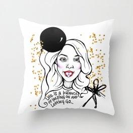 #STUKGIRL MONICA Throw Pillow