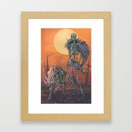 Freyja and Hildisvíni Framed Art Print