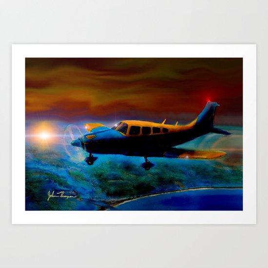 Piper over Paradise sunset Art Print