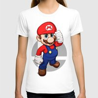 mario T-shirts featuring Mario by Ryan Ketley