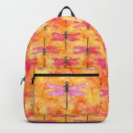 Watercolor Dragonfly Mandalas Backpack