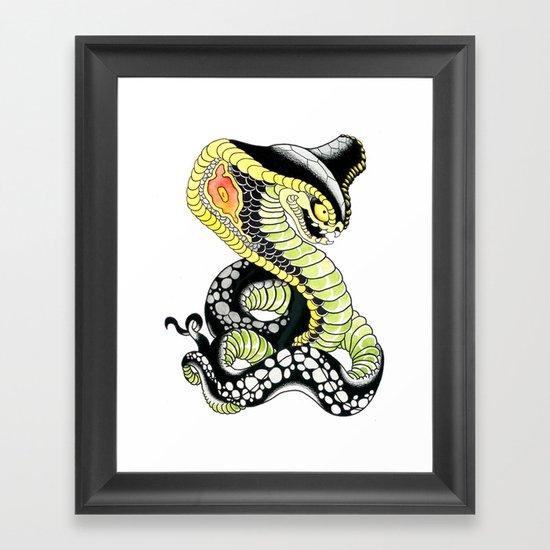 Cobra Snake Framed Art Print