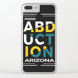 ABDUCTION   UFO Art Clear iPhone Case