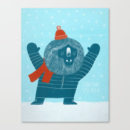 Snow Yeah Canvas Print