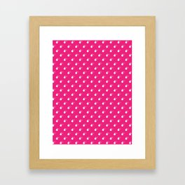 HOT PINK & WHITE BOMB DIGGITYS ALL OVER LARGE Framed Art Print