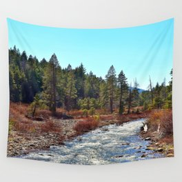 River in Tahoe National Forest Wall Tapestry