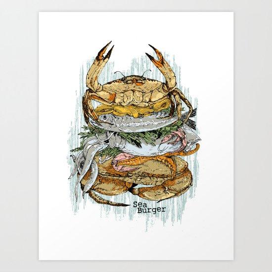 Sea Burger Art Print