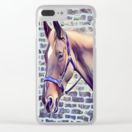 Brown Horse with Harness Clear iPhone Case