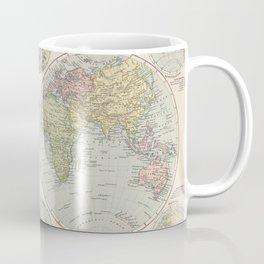 Vintage Map of The World (1892) Coffee Mug