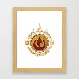 Fire Nation Admiral Framed Art Print