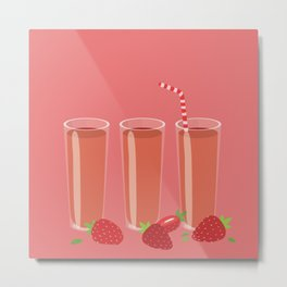 Strawberry juices Metal Print