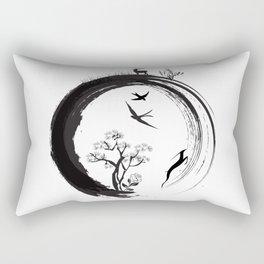 Enso Zen Circle Japanese Symbol Life Nature Tree Wildlife Rectangular Pillow