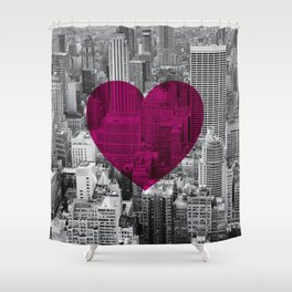 Heart NYC Shower Curtain