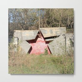 Red Russian Star Metal Print