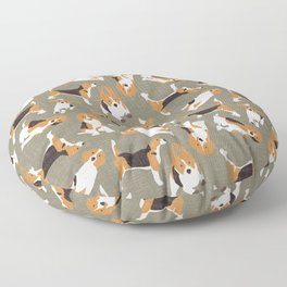 beagle scatter stone Floor Pillow
