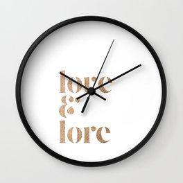 love & lore Wall Clock