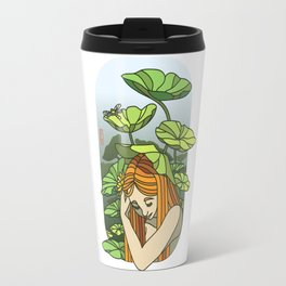 Lotus Capped Travel Mug