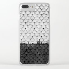 SHELTER / White, Black Clear iPhone Case