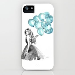 Balloons Turquoise  iPhone Case