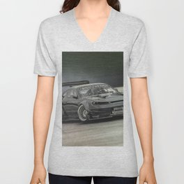 Drifting Car II Unisex V-Neck