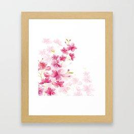 Cherry flower Framed Art Print