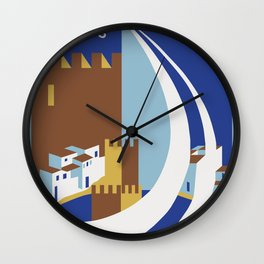 Come to the islands retro travel Wall Clock