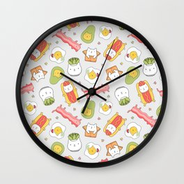 Cat food and succulent Wall Clock