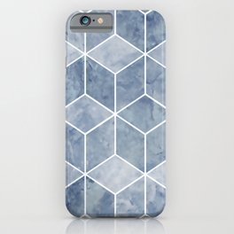 Geometric, Mable, Stone, Pattern, Blue iPhone Case