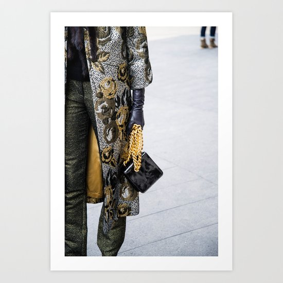 Gold Fashion Art Print