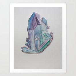 Amethyst Crystal Printable Wall Art, Digital Print, Digital Download, Gift for Mom Art Print