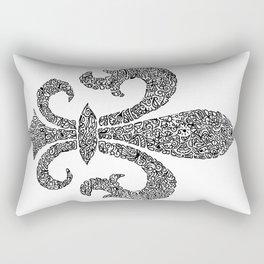 fleur de lis doodle abstract shapes Rectangular Pillow