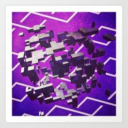 Purple Blow Out Art Print
