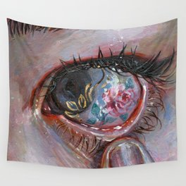 Beauty in The Eye Wall Tapestry