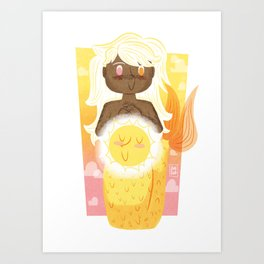 """Sun"" Mermaid Art Print"