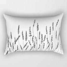Black Lavender Flowers Rectangular Pillow
