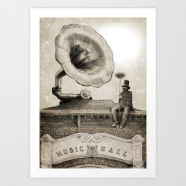 The Chimney Sweep (Monochrome) Art Print