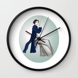 Fashion Illustration - Pride & Prejudice Wall Clock