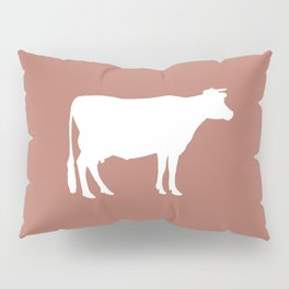 Cow: Rust Red Pillow Sham
