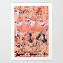 11.3: A bright abstract contemporary design in pinks black and white by Alyssa Hamilton Art  Art Print