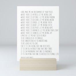 Prayer of Saint Francis #minimalism #prayerofpeace Mini Art Print