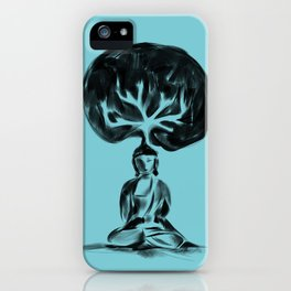 Cool Buddha - Moods of blue iPhone Case
