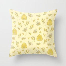 Honey Honey Throw Pillow