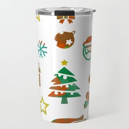 Christmas Theme Travel Mug