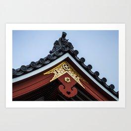 Tempel Roof Art Print