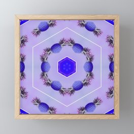 blueberry pineapples Framed Mini Art Print