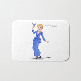 Princess Hillary Clinton (Trumble Cartoon) Bath Mat
